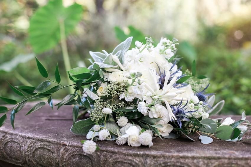 Garden Wedding Bridal Bouquet Photography by Gaudium Photography