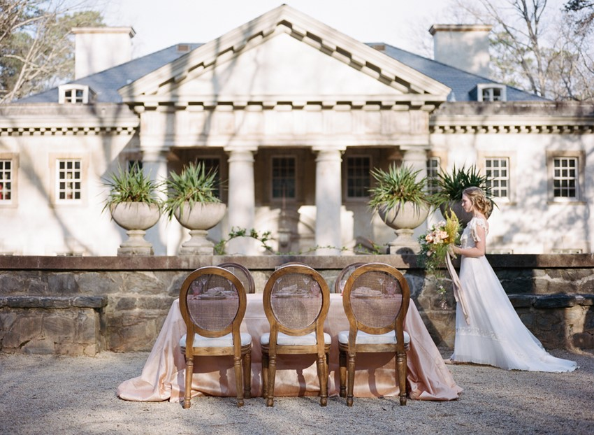 Romantic Wedding Tablescape Photography by Archetype Studios Inc