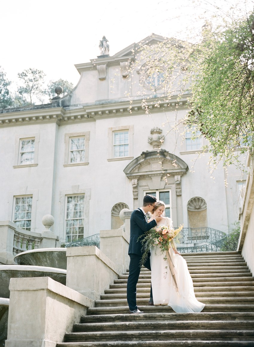 Romantic Vintage Wedding Inspiration Photography by Archetype Studios Inc