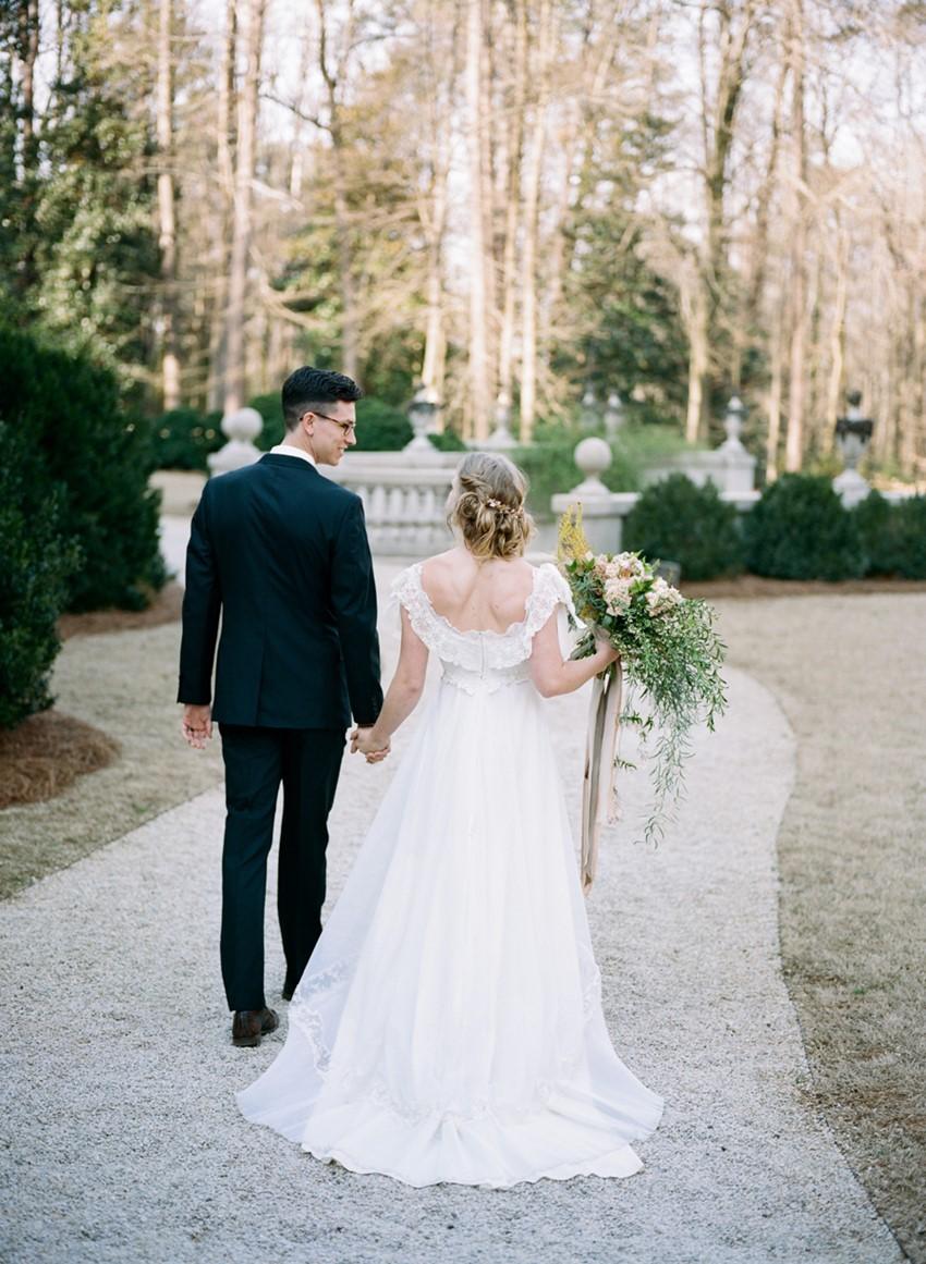Romantic Modern Vintage Wedding Inspiration Photography by Archetype Studios Inc