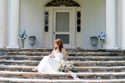 Dreamy Spring Wedding Inspiration in Pretty a Peach & Powder Blue Palette Photography by Anna Kardos