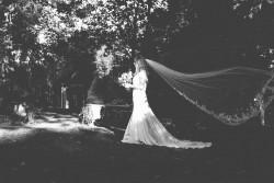 Black & White Bridal Portrait Photography by Gaudium Photography