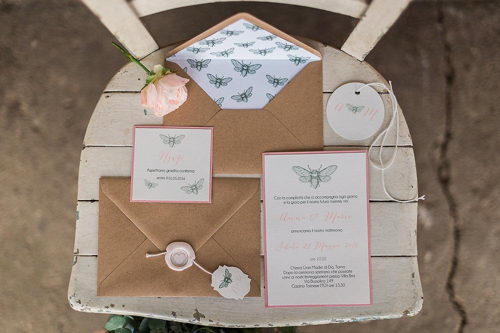Vintage Boho Wedding Invitation // Photography ~ Lisa Digliglio