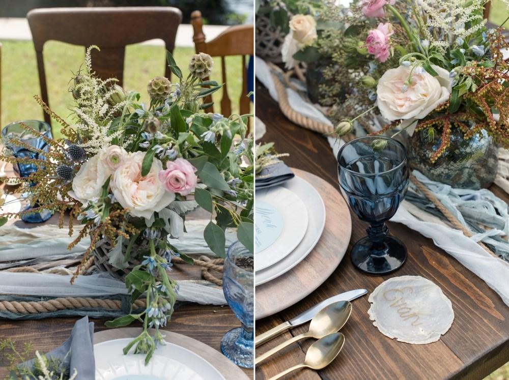 Coastal Wedding Reception Decor // Photography by Caroline & Evan Photography