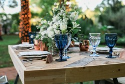 Industrial Vintage Wedding Tablescape Photography by Gaudium Photography