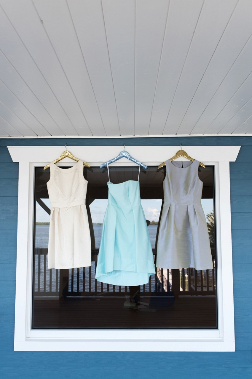 Mismatched Bridesmaid Dresses from Dessy // Photography by Caroline & Evan Photography