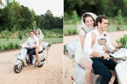 Vintage Vespa Elopement Getaway // Photography by Live View Studios http://www.liveviewstudios.com