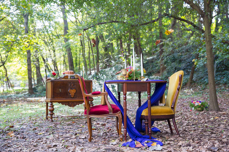 Boho Vintage Wedding Sweetheart Table