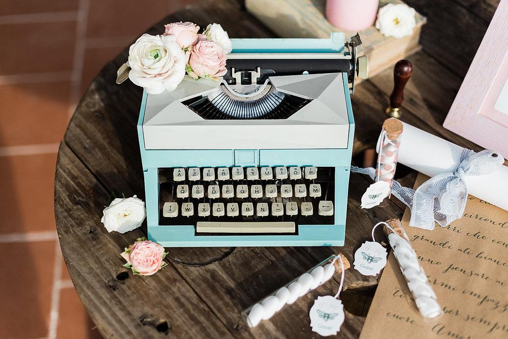 Serenity & Rose Quartz Vintage Wedding // Photography ~ Lisa Digliglio