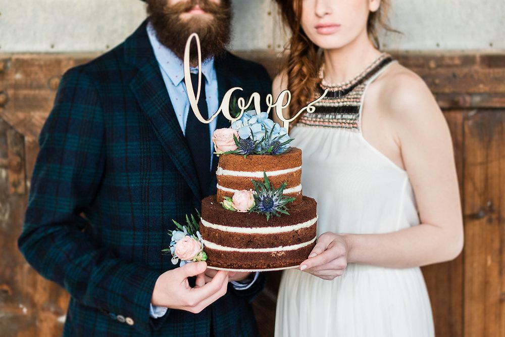 Vintage Boho Wedding Cake // Photography ~ Lisa Digliglio