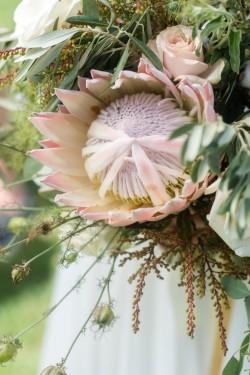 Protea Bridal Bouquet // Photography by Caroline & Evan Photography