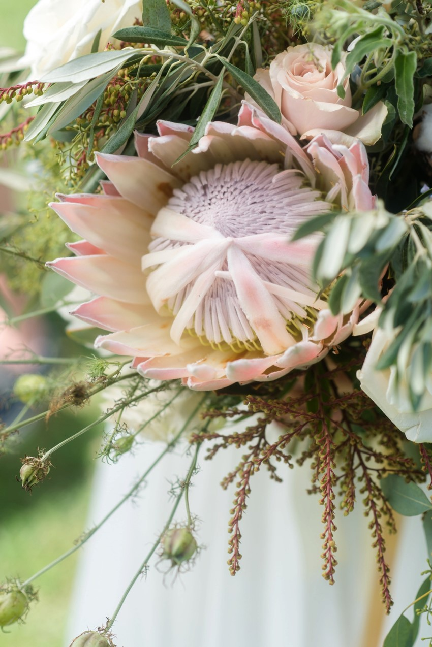 Protea Bridal Bouquet // Photography by Caroline & Evan Photography