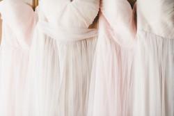 Pretty Rose Quartz Bridesmaid Dresses // Photography by Onelove Photography http://www.onelove-photo.com