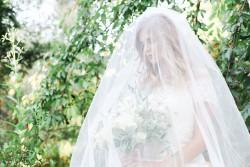 Veiled Bride for a Garden Wedding Photography by Gaudium Photography