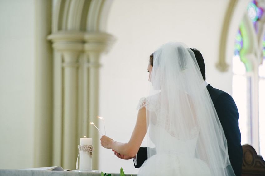 Catholic Church Wedding Ceremony Photography by Claire Morgan