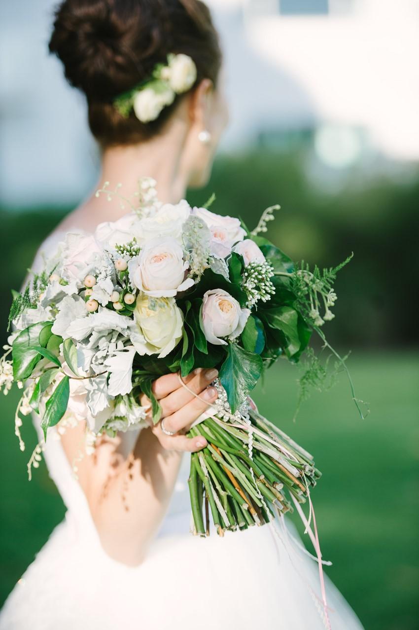 Romantic Bridal Bouquet Photography by Claire Morgan