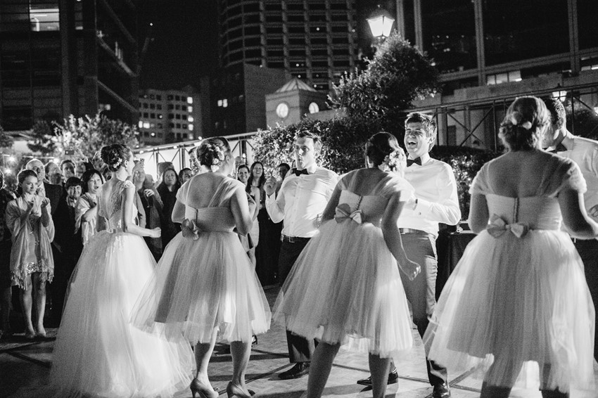 Surprise Bridal Party Dance Photography by Claire Morgan