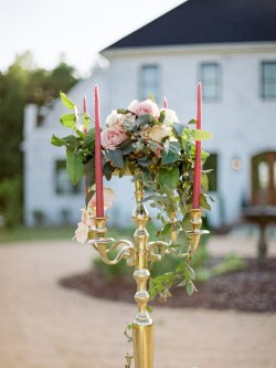 Vintage Candelabra Wedding Centrepiece // Photography by Live View Studios http://www.liveviewstudios.com