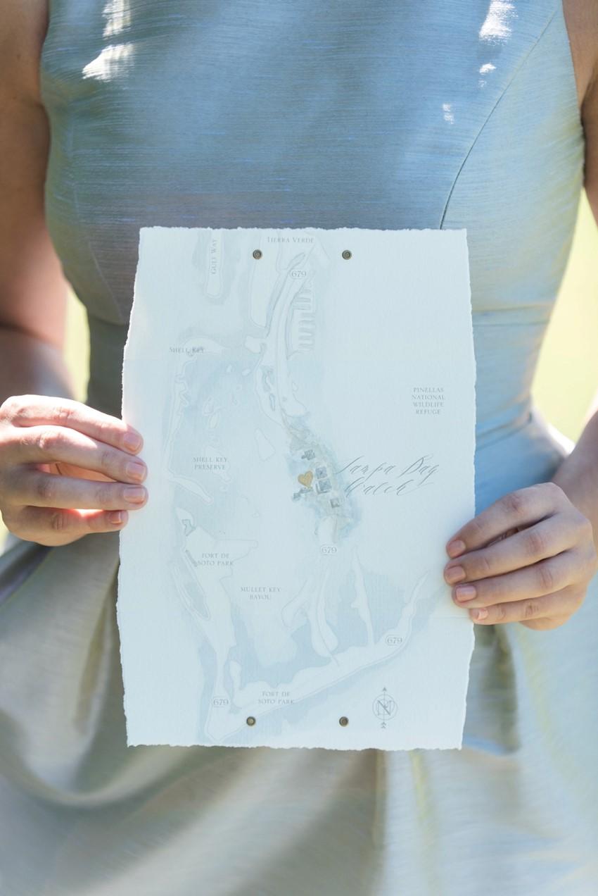 Coastal Watercolour Wedding Stationery // Photography by Caroline & Evan Photography