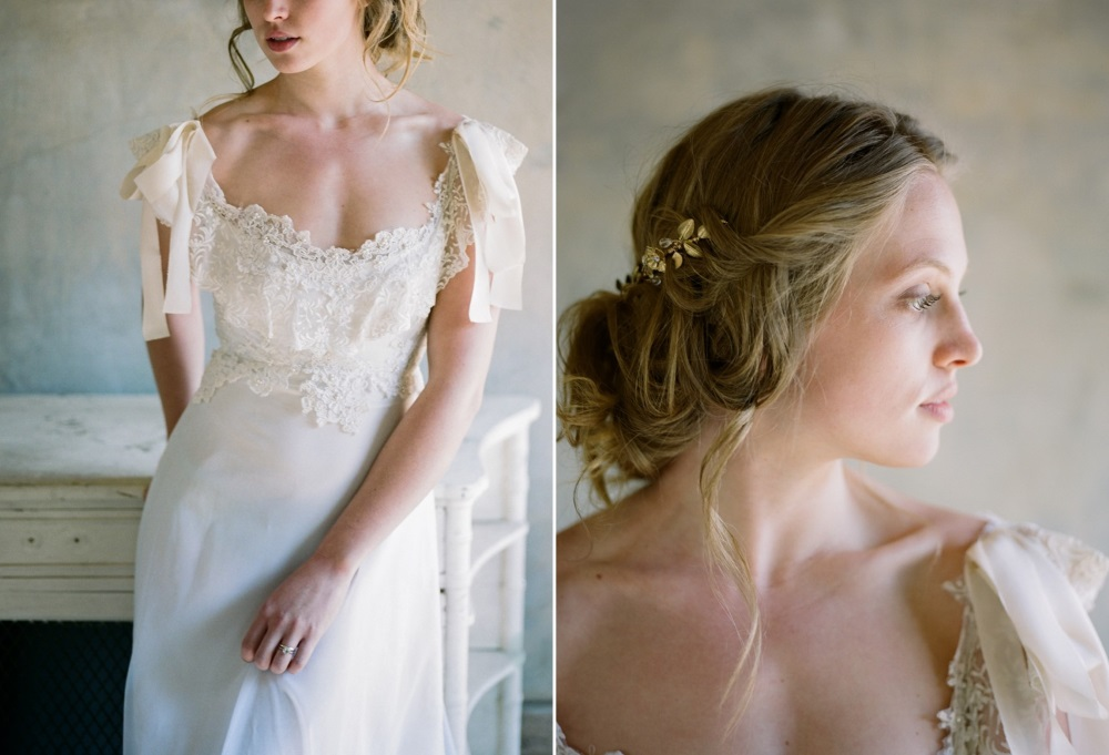Romantic Modern Vintage Bridal Look Photography by Archetype Studios Inc
