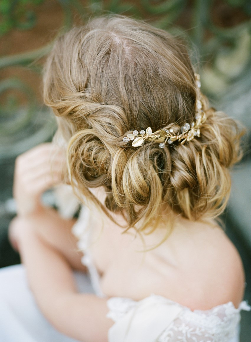 Romantic Bridal Updo Photography by Archetype Studios Inc