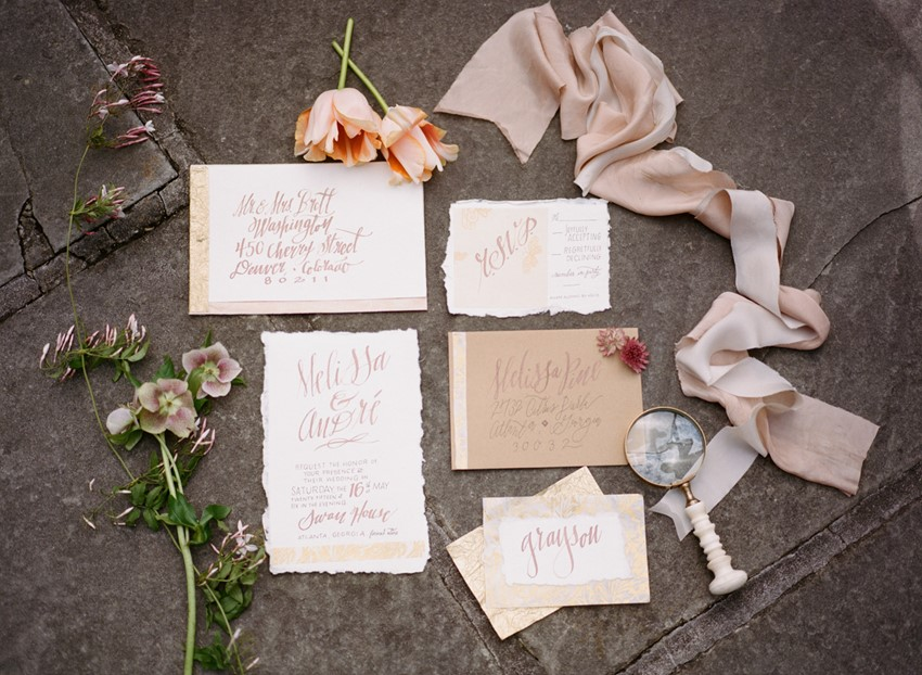 Romantic Wedding Stationery Photography by Archetype Studios Inc