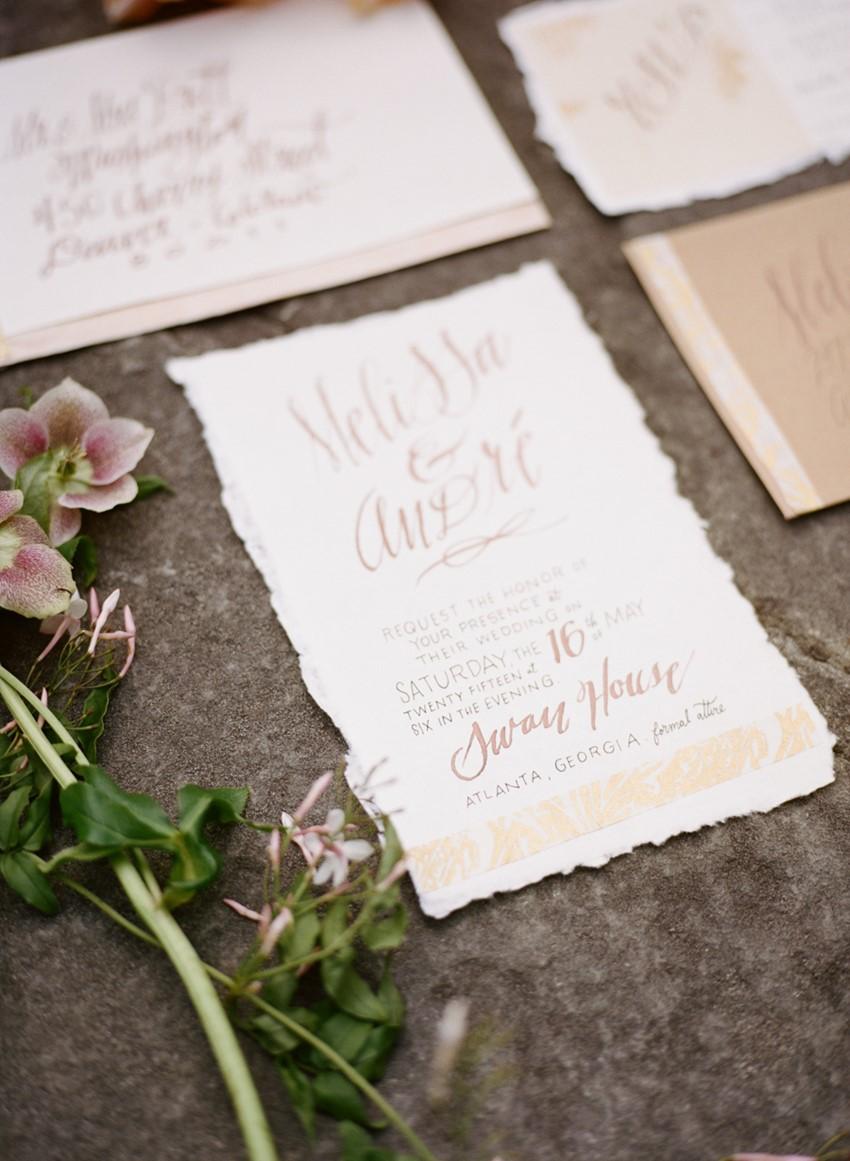 Romantic Wedding Invitation Photography by Archetype Studios Inc