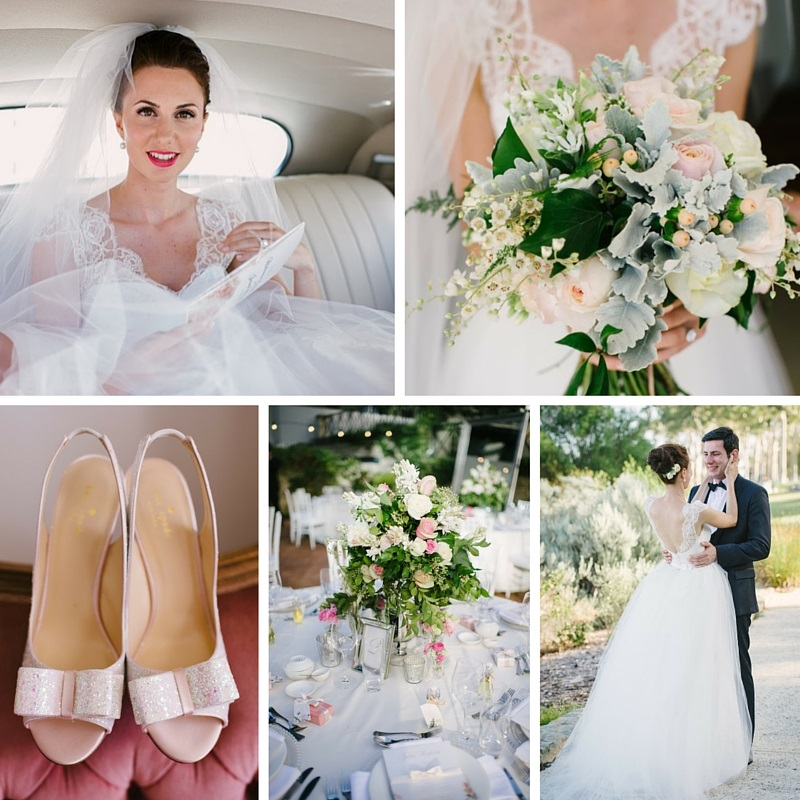 A Pretty in Pink Summer Wedding with 2 Ceremonies and a Grace Kelly Inspired Wedding Dress
