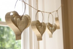 Heart Paper Wedding Garland