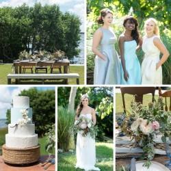 Coastal Wedding Inpiration from Aisle Society & Dessy // Caroline & Evan Photography