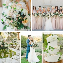 A Lush Summer Wine Country Wedding // Photography by Onelove Photography http://www.onelove-photo.com