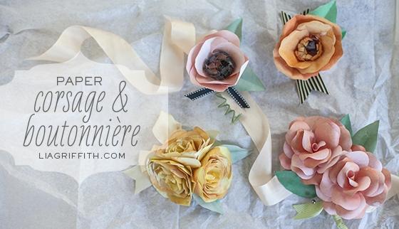 DIY Paper Coursage & Boutonniere