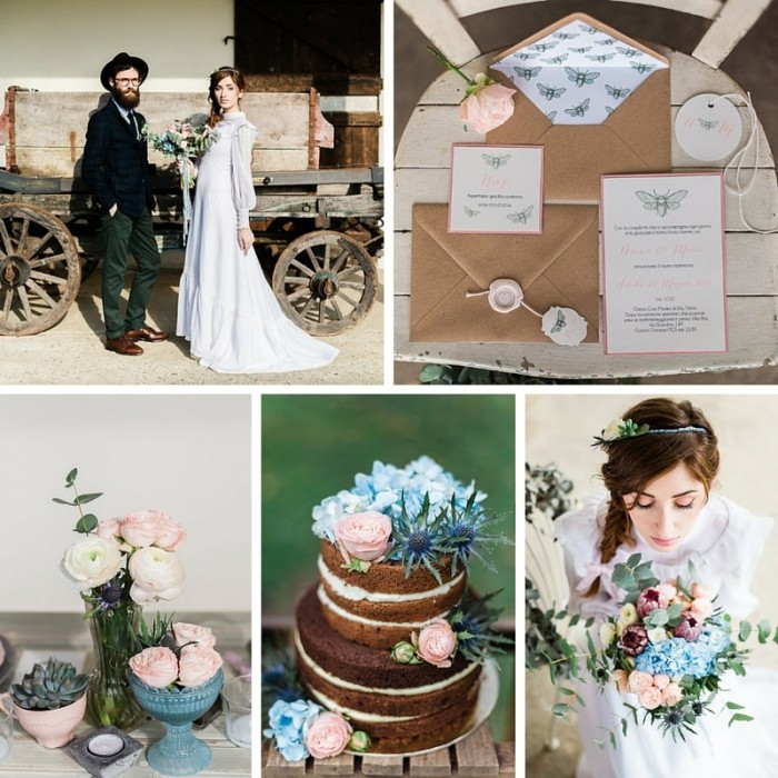 Free Soul - Beautiful Vintage Boho Wedding Inspiration