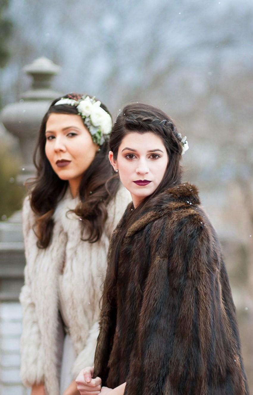 Winter Bride & Bridesmaid // Photography ~