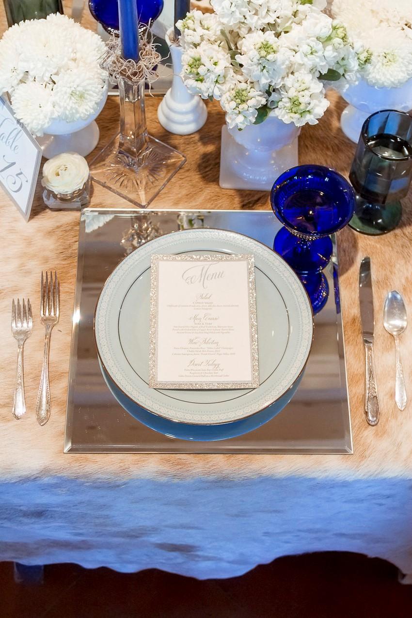 Winter Wedding Place Setting // Photography ~ Twin Lens Weddings