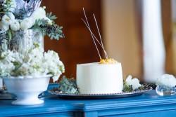 Single Tier White Wedding Cake // Photography ~ Twin Lens Weddings