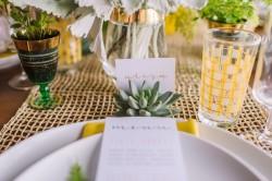 Succulent Escort Card Holder // Photography ~ Amanda Dumouchelle Photography