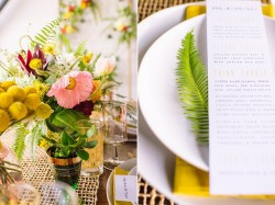 Mid Century Elopement Tablescape // Photography ~ Amanda Dumouchelle Photography