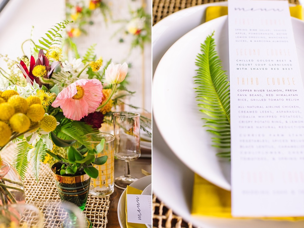 Mid Century Elopement Tablescape // Photography ~ Amanda Dumouchelle Photography
