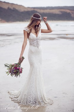 Anna Campbell Wedding Dress Ebony from her 2016 Spirit Collection