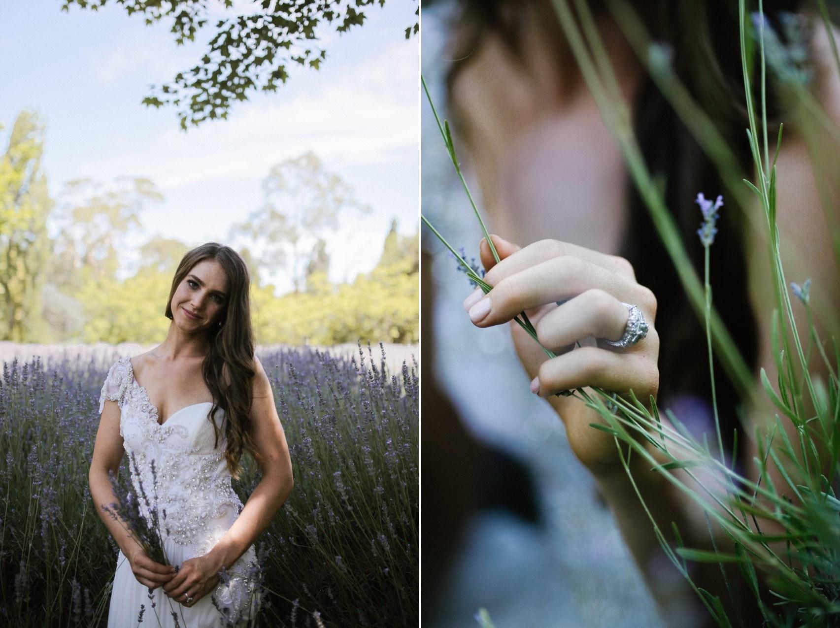 Lavender farm bridal portraits // Photography by Brown Paper Parcel