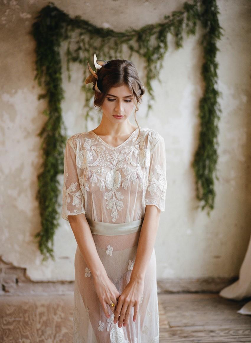 Romantic Vintage Bridal Robe // Photography ~ Archetype Photography