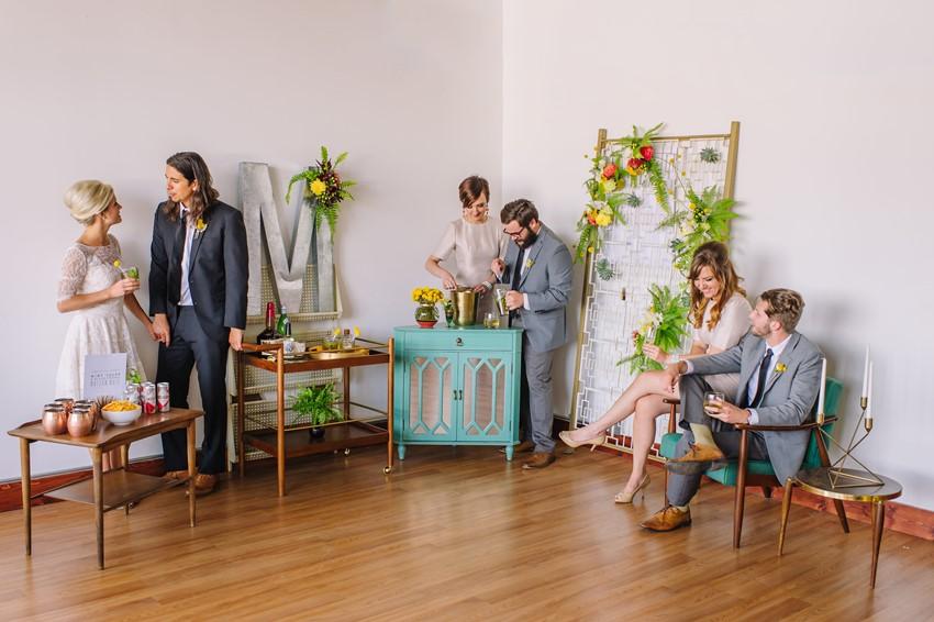 Mid Century Wedding Reception // Photography ~ Amanda Dumouchelle Photography