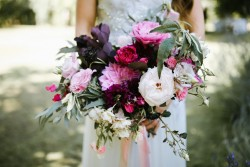 Just picked bridal bouquet // Photography by Brown Paper Parcel