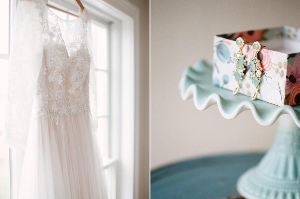 Lace Wedding Dress & Bridal Earrings // Photography ~ @shannonduggan