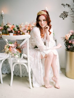 Spring bridal boudoir session // Photography ~ We Are Origami