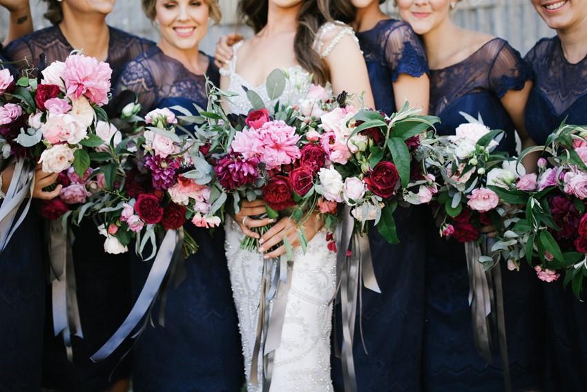 Bride & Bridesmaids bouquets // Photography by Brown Paper Parcel