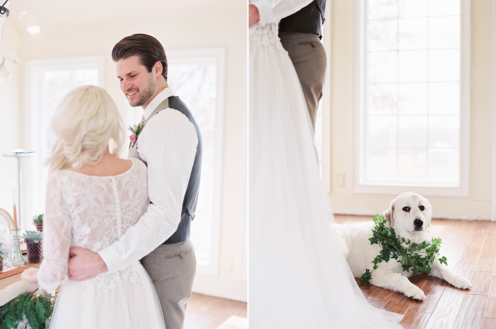 Cute dog wearing a floral wreath // Photography ~ @shannonduggan