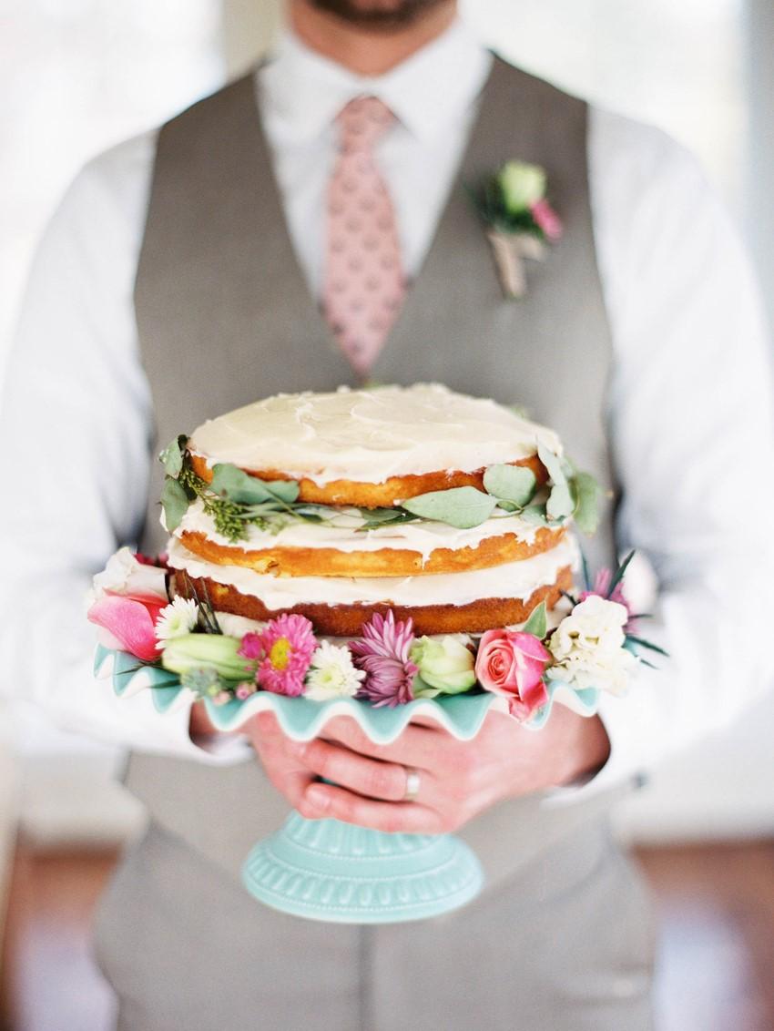 Naked Wedding Cake // Photography ~ @shannonduggan