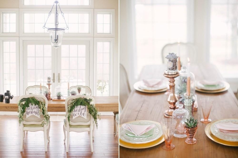 Rose Gold Wedding Tablescape // Photography ~ @shannonduggan